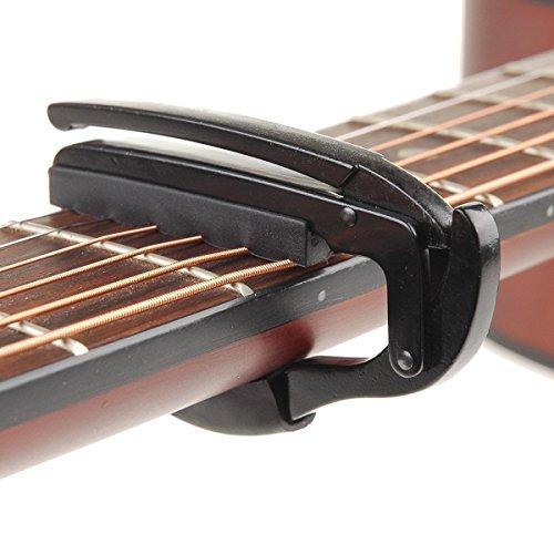 Kcopo Gitarre Kapodaster Gitarre Klemme Gitarren Tune Clip Gitarre Zubehör Für Akustik Elektrische Gitarren Schwarz