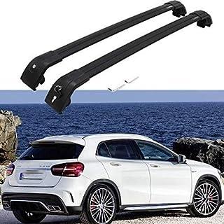 WXHHH Aluminium Alloy Roof Rack Cross Bars Fit for Mercedes Be nz GLA X156 2014-2020 Custom Cross Bar Roof Cargo Bars Luggage Carrier Rack Lockable 2Pcs Black