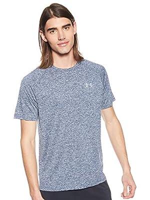 Under Armour Men's Tech 2.0 Short Sleeve T-Shirt, Academy (409)/Steel, Medium