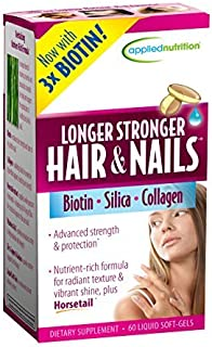 Applied Nutrition Longer, Stronger Hair and Nails, 60-Count (Pack of 6)
