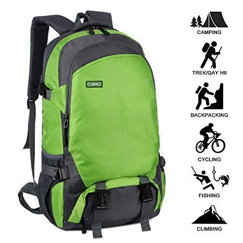 HUOFEIKE Sac à Dos 45L Randonnée Waterproof Trekking Sac à Dos pour Femmes Hommes Camping Cyclisme Voyager Escalade Courir Marcher Sport extérieur Grand,Nj