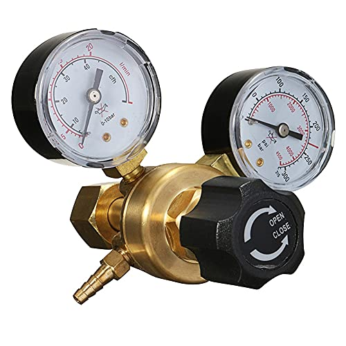 TANGIST Regulador de flujo de aire Botella de gas Botella de soldadura de soldadura Regulador de presión Accesorios de latón MIG TIG ARGON CO2# 734
