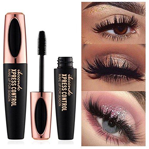 Allbesta 4D Silk Fiber Wimperntusche, Extra Long Lash Verlängerung & Volumen Eyelash Mascara Wasserdicht Langlebig Natürlich Augen Make-up Not Blooming