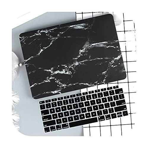 Funda de mármol para MacBook Air Pro Retina 11 12 13.3 nuevo Mac Book 13 15 Touch Bar 2020 A2289 A2338 A2337M1 A2179+cubierta de teclado-HDB-Old air13 2017 A1466