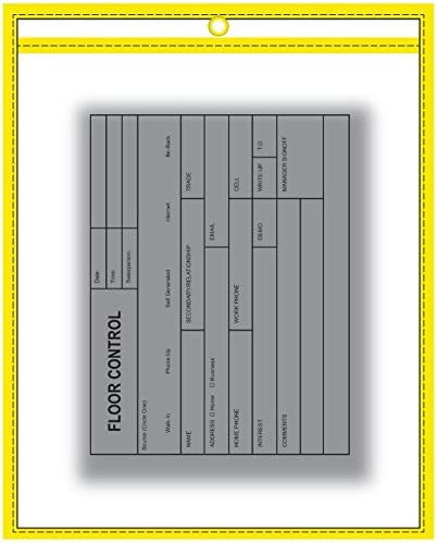 Repair Order Work Ticket Holders Pink Edges Max 88% OFF w Neon Special sale item Clear