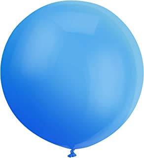 GuassLee Giant Balloons 36-Inch Blue Balloons - 6 Big Latex Balloons Large Transparent Balloon for Birthdays Party Wedding and Event Decorations