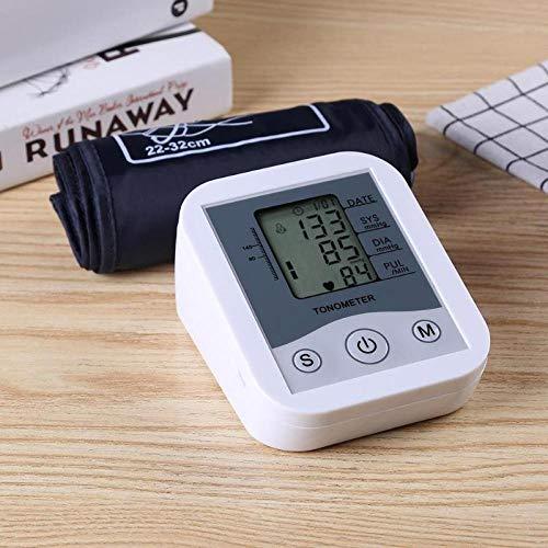 1PC Monitor de presión Arterial Medidor de presión Arterial del Brazo Superior Herramienta Digital de medición de la presión Arterial para medir la presión Arterial-1_Blanco
