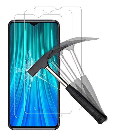 ANEWSIR 3 Stück Schutzfolie Bildschirmschutzfolie für Xiaomi Redmi Note 8 Pro, HD Bildschirmschutzfolie, 9H Festigkeit, Ohne Luftblasen, Anti-Kratzer, Bildschirmschutzfolie Folie für Redmi Note 8 Pro.
