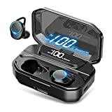 HEYMIX True Wireless Earbuds Bluetooth 5.0 Headphones w/Mic, , IPX7 Waterproof Earphones