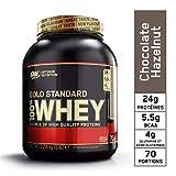 Optimum Nutrition Gold Standard 100% Whey Protéine en Poudre avec Whey Isolate, Proteines Musculation Prise de Masse, Chocolat Noisette, 70 portions, 2.27 kg