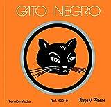 Juego de cuerdas Gato Negro nylon negro y bajos plateados para guitarra clásica.