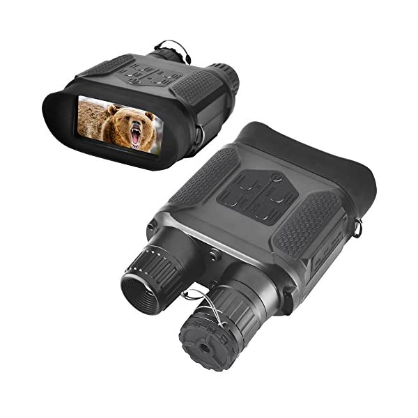 Landove Digital Night Vision Binocular for Hunting 7x31 with 2 inch TFT LCD HD Infrared IR Camera & Camcorder 1300ft/400M Viewing Range Takes 5mp Photo & 640p Video