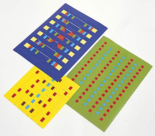 MarpaJansen Flechtblätter - Papier Flechten - Glanzpapier - (12 x 17 cm, 10 mm Schnittbreite, 50 Paar, 100 Bogen, 80 g/m²) - farbig Sortiert
