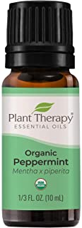 Plant Therapy Organic Peppermint Essential Oil 100% Pure, USDA Certified Organic, Undiluted, Natural Aromatherapy, Therape...