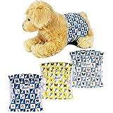 Petotw Pañales Lavables para Perros Machos, Envolturas Reutilizables para Perros, Pañales Lavables para Envolver El Vientre para Perros de Hombres, Bandas para Perros Pequeño (S, 3 Piezas)