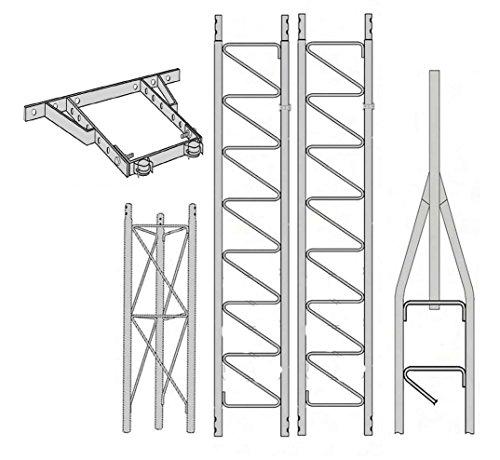 ROHN 25G Series 30' Tower Kit + HB25BG House Bracket. Buy it now for 855.00