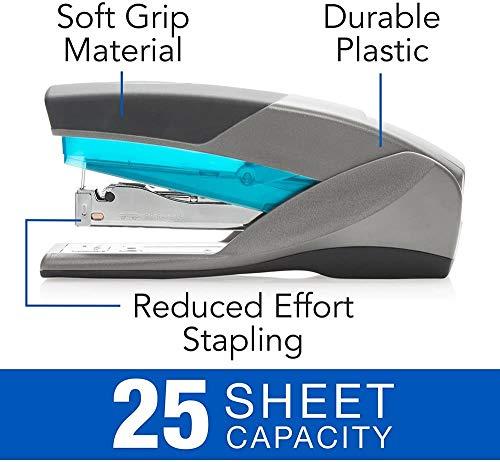 Swingline Stapler, Optima 25, Full Size Desktop Stapler, 25 Sheet Capacity, Reduced Effort, Blue/Gray (66404), SWI66404 - 1 Pack Photo #3