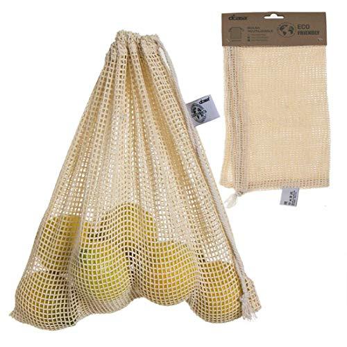 Home Gadgets Bolsa de Compra Malla para Fruta y Verdura Reutilizable 30x30 cm