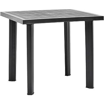 vidaXL Gartentisch Witterungsbeständig Balkontisch Terrassentisch Esstisch Tisch Campingtisch Beistelltisch Anthrazit 80x75x72cm Kunststoff