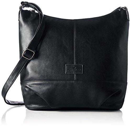 TOM TAILOR Shopper Damen, Miripu, (Schwarz), 10x33x35 cm, TOM TAILOR Taschen für Damen, Handtasche, Schultertasche, Hobo