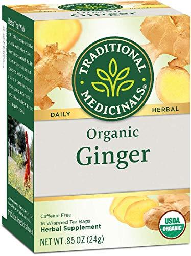 Traditional Medicinals Herbal Teas, Organic Ginger, 16 Tea Bags (Pack of 3)