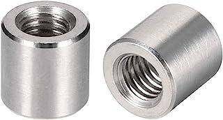 uxcell ラウンドカップリングナット スリーブロッドバースタッドナット 304ステンレス鋼 高さM6x10mm 5個入り