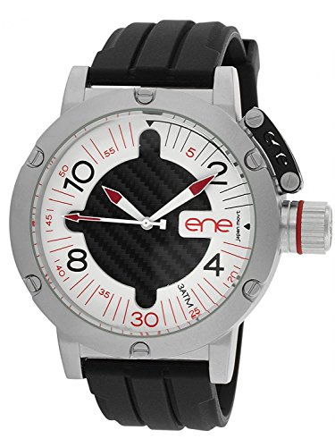 eNe Herren Analog Quarz Uhr mit Gummi Armband 11463