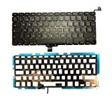 Ittecc Teclado ESPAÑOL Spanish SP Keyboard with Backlit Replacment Fit for PRO 13' A1278 MC700 MB990 MB991 MB990LL/A MD313LL/A MD314 MB466 MB467 MD101 MD1022009 2010 2011 2012 with Screw