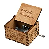 Huntmic Can't Help Falling in Love Caja de música de madera, caja de música grabada antigua, caja para regalo de cumpleaños, juguetes para niños, operados a mano (madera-A)