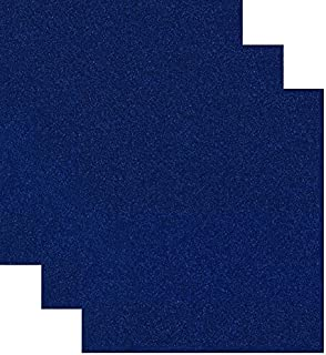 Siser Glitter Heat Transfer Vinyl HTV for T-Shirts 10 by 12 Inches (1 Foot) 3 Precut Sheets (Royal Blue)
