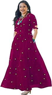 Asha Print Women's Long Embroidered Rayon Kurti