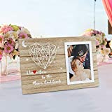 Unishark Doo Handmade String Art Heart Picture Frame : Girlfriend and Boyfriend Couples Picture Frame for Valentine's Day - 4x6 Photo Size