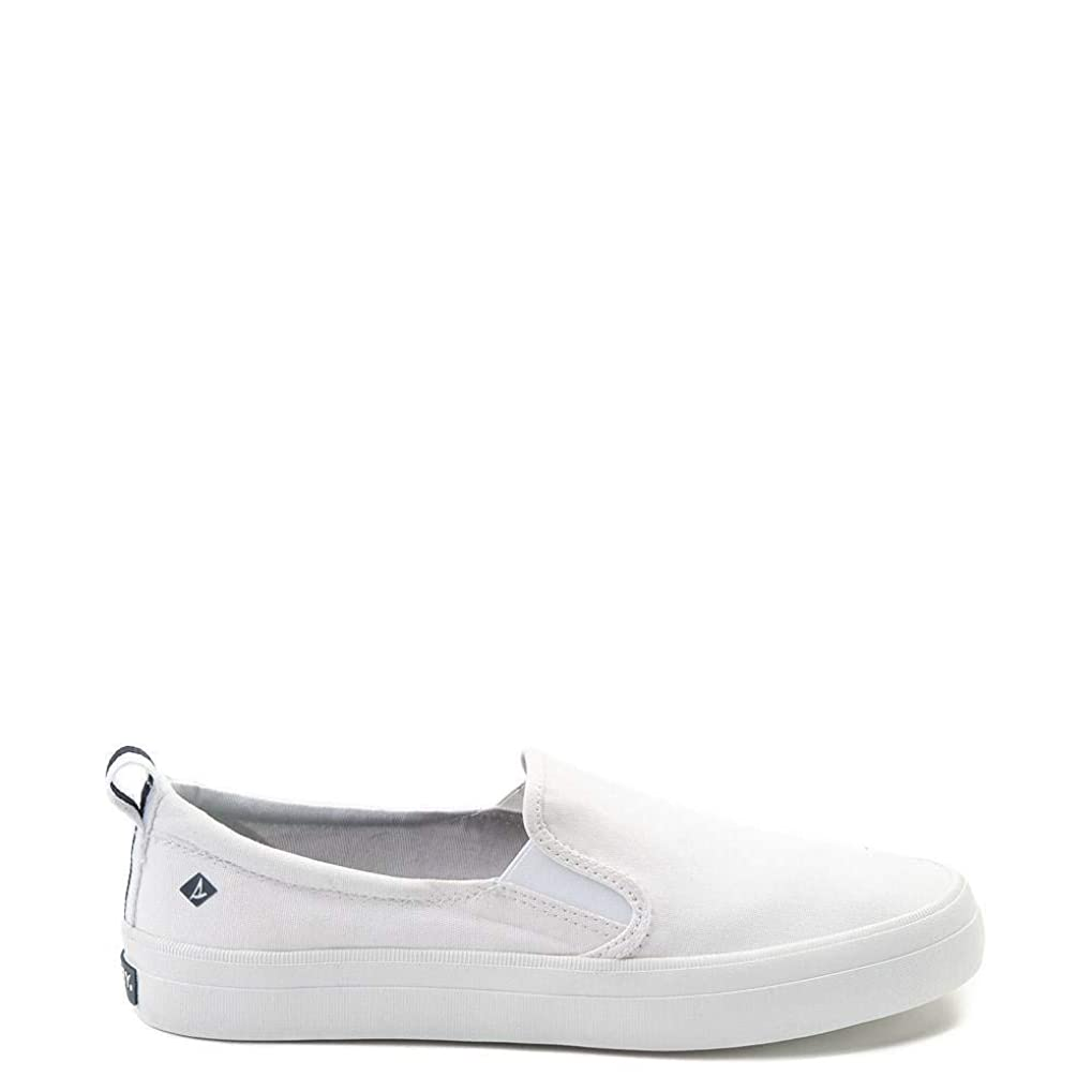 手当理容師暗殺者[スペリートップサイダー] Sperry Top-Sider レディース靴?Crest Slip On Casual Shoe WHITE ホワイト [並行輸入品]