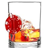 """Stuck in Glass """" UP THE ANTE"""" WHISKEY GLASS 