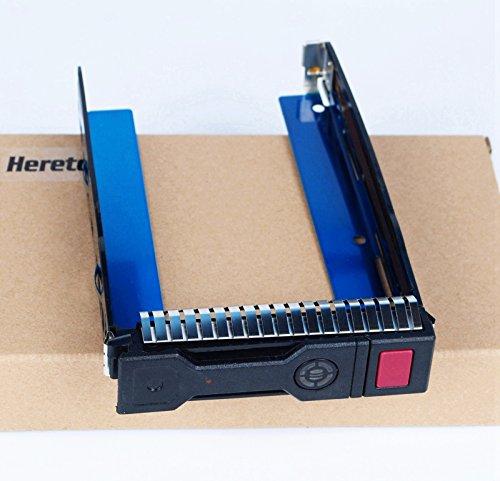 Heretom 3,5 Zoll Ersatz SAS SATA Tray Caddy Festplattenrahmen für HP ProLiant G8 Gen8 Gen9 G9 DL160 DL380p DL388 DL360 ML350e ML310e SL250s BL460c DL560 651314-001 651320-001 mit Chip