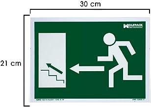 Wolfpack 15051240 Cartel Salida Escalera Derecha Arriba 21x30