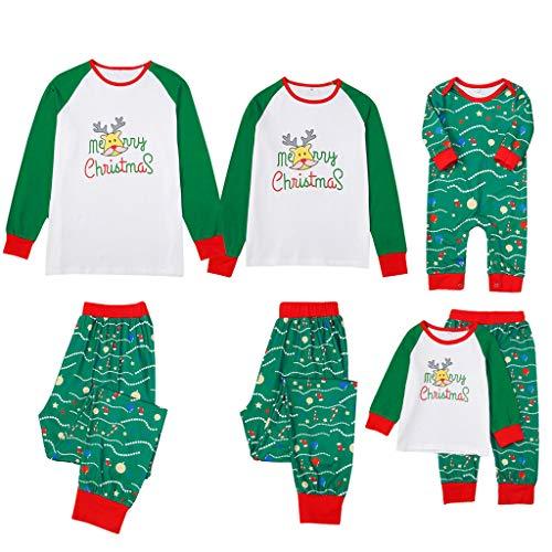 🎅 🎁 Bumplebee Weihnachts Schlafanzug Familie Weihnachtspyjama Weihnachten Pyjama Schlafanzüge Grün Damen Kinder Herren Baby Mädchen Jungen
