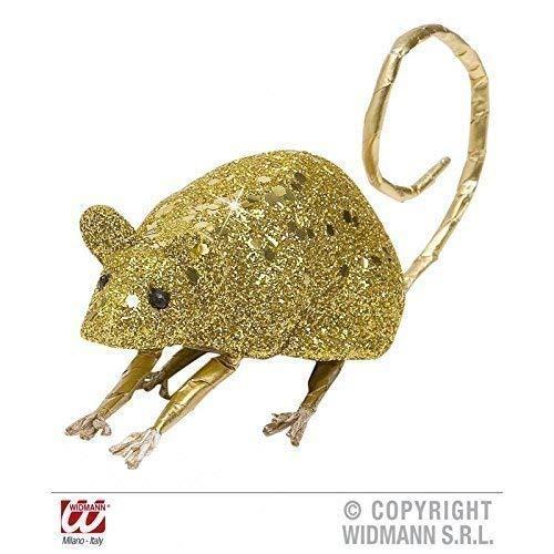 Lively Moments Souris / Rat Couleur Or Scintillant Env. 8,5 cm / Décoration de Halloween / Décoration de Table/Salle de Séjour Déco