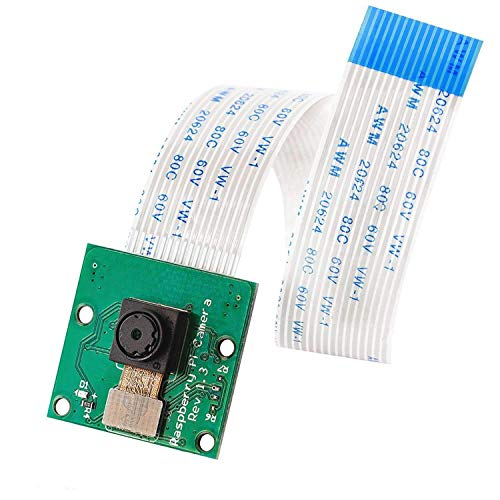 AZDelivery Camara Raspberry Pi, 5 Megapixeles, Sensor Ov5647 1080p, Modulo Cámara Video Soporte Vision con Cable Flexible 15 cm compatible con Raspberry Pi con E-Book incluido!