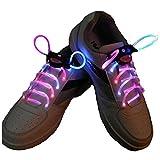 TOOGOO(R) LED Cordones Intermitente Bright LED Cordones de los Zapatos Cordones Luminosos de 80cm multicolor