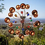 Primrose Burnham Wind Spinner with Gems Solar Crackle Globe