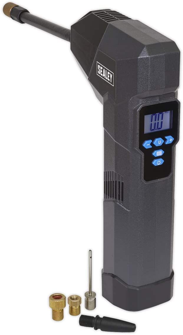 Sealey CTI120 蔵 Compact Rechargeable Inflator 出群 Powerbank wit Tyre