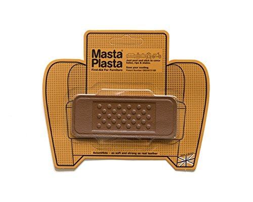 MastaPlasta Self-Adhesive Premium Instant Leather Repair Patch, Bandage, Tan - 4 x 1.5 Inch - First-aid for Sofas, Car Seats & More