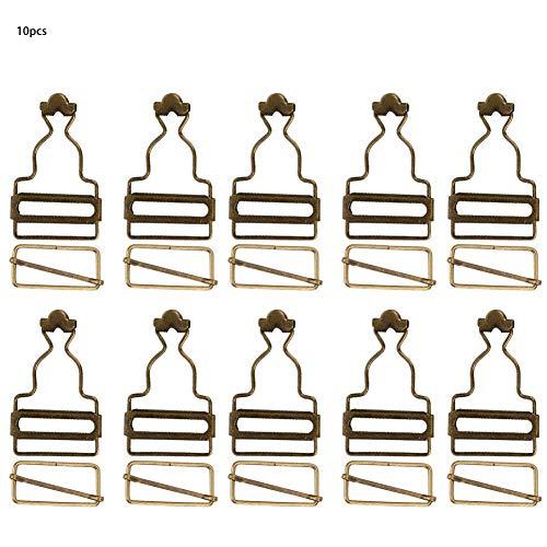 HEEPDD 10 stuks in totaal gespen bretels, verstelbare gesp metalen band slip gesp voor broek jeans dames kleding 3,2 cm