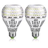 Bombillas LED SANSI 22W (equivalentes a 200W), bombilla de luz blanca de luz diurna 5000K, bombilla de tornillo Edison E27 súper brillante de 3000lm, paquete de 2