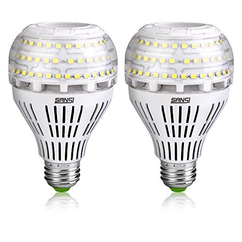 SANSI E27 LED Lampe, 22W ersetzt 200W Glühbirne, E27 Kaltweiß Lampe, 5000 Kelvin 3000 Lumen, nicht dimmbar Birne, Superhell LED Leuchtmittel für Küche, Werkstatt, Garage, Hof, 2er-Pack