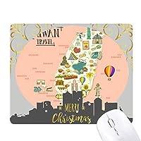台湾中国旅行の魅力 クリスマスイブのゴムマウスパッド