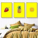 KELEQI Nordic Art Prints Malerei Früchte Ananas Erdbeer
