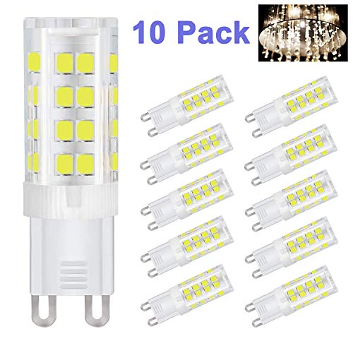G9 LED Lampen 5W Kambo, G9 LED Leuchtmittel Kaltweiß 6000K 420LM Ersatz 40W Halogenlampen 85Ra Energiespar 360° Abstrahlwinkel AC 220-260V Nicht Dimmbar 10 Stück