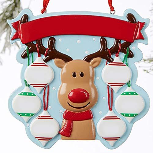 XUXI Fiesta de Navidad Familiar Decoraciones de Vacaciones Familiares DIY Cartel Colgante Fiesta Decoración de Navidad Adorno Colgante Decoración Interior Exterior